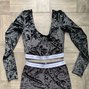 Velvet Victoria Shorts and crop Top set